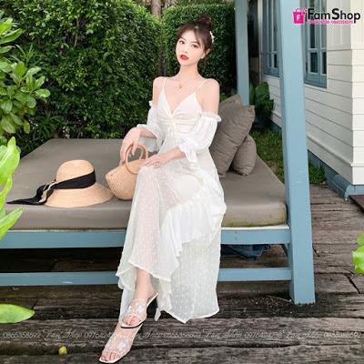 Shop bán váy maxi đi biển tại Đống Đa
