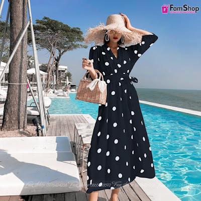 Váy maxi đi biển V460