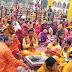 108 कुन्डीय गायत्री महायज्ञ के दौरान सैकड़ों लोगों ने लिया गायत्री मंत्र का दिक्षा