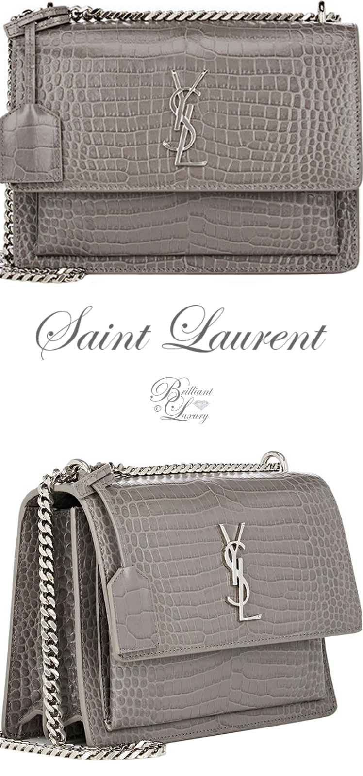 Brilliant Luxury ♦ Saint Laurent Monogram Sunset Medium Shoulder Bag
