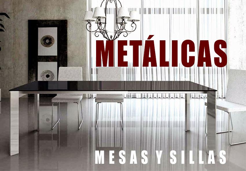 Mesas sillas met licas barcelona decolevel sofas for Sillas metalicas para cocina
