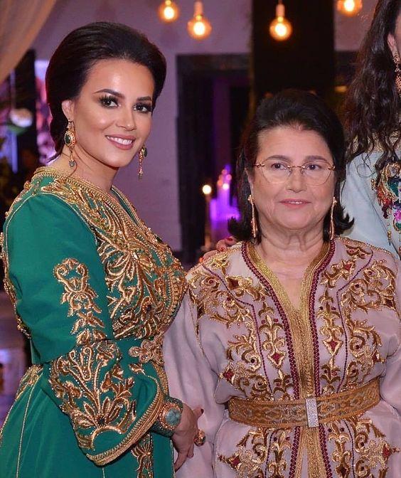 caftan marocain vert brodé mariage france