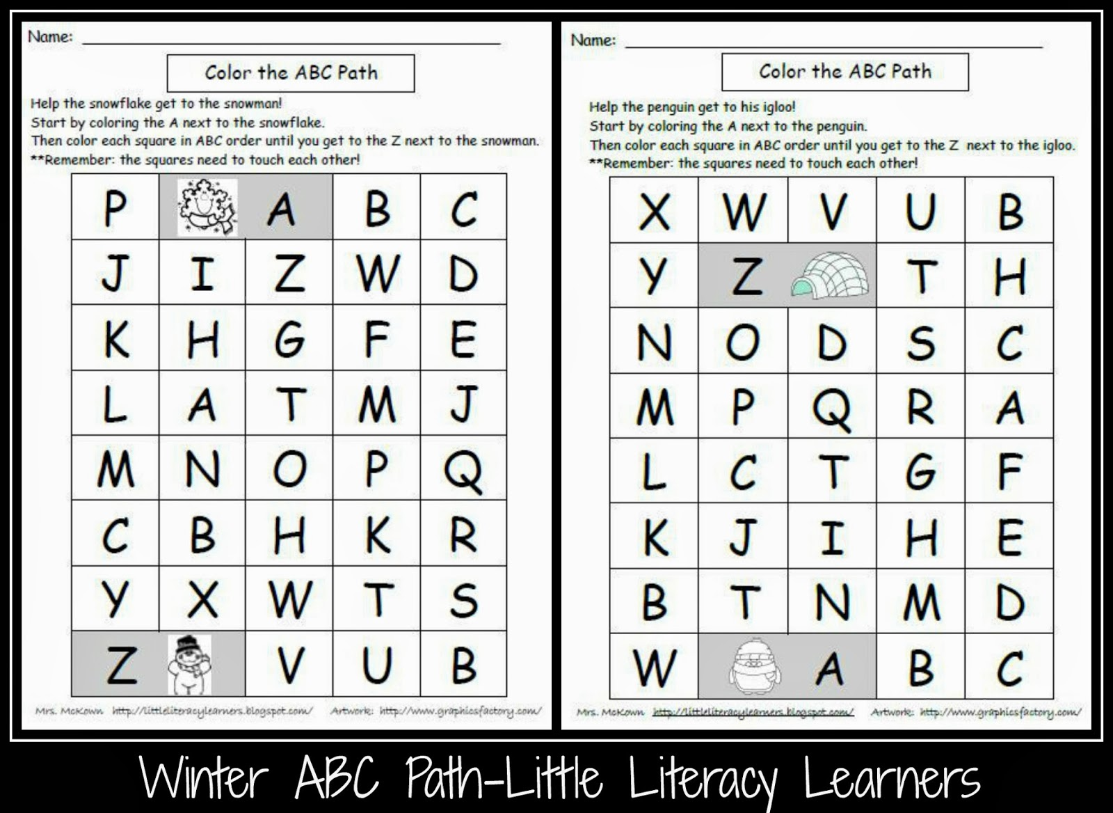 Little Literacy Learners Upper Case Letter Identification