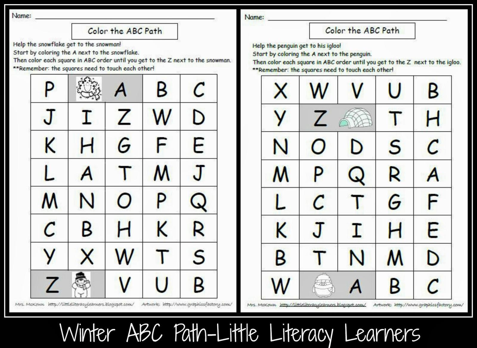 Little Literacy Learners Upper Case Letter Identification Freebie