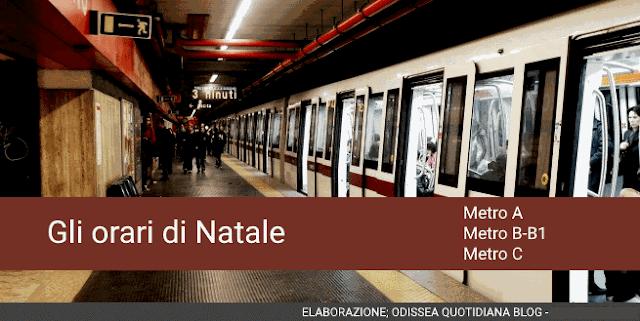 Orari dei trasporti pubblici nel periodo natalizio: Le metropolitane di Roma