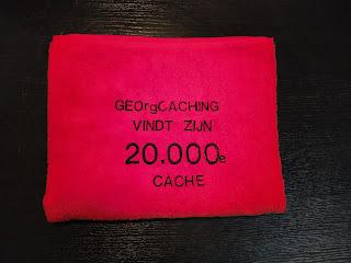 geocaching mijlpalen 20000 founds caches