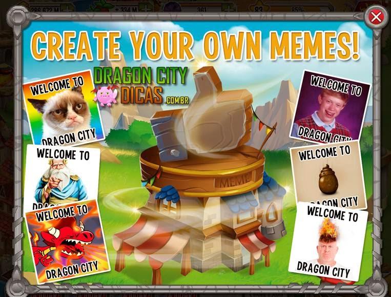 Gerador de Memes - Nova Construção do Dragon City!