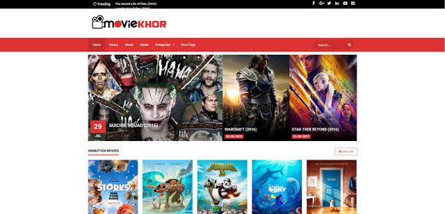 moviekhor шаблон blogger для сайта кино