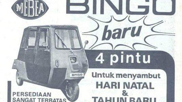 Mebea Bingo Indonesia brosur 70an