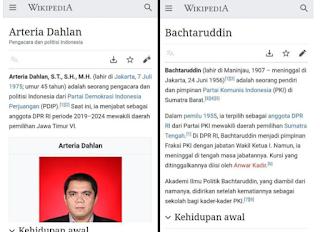 Di Wikipedia, Arteria Dahlan dan Bachtaruddin (Pendiri PKI Sumbar) Saling Terhubung