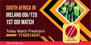 ODI, Match 1st: Ireland vs South Africa Today cricket match prediction 100 sure