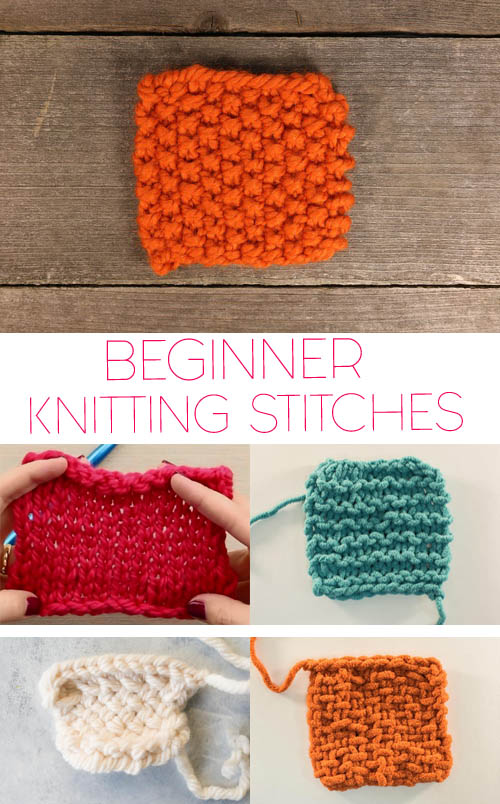 Knitting Terminology Basic Stitches : 5 Basic Knitting Stitches for Beginners Gina Michele Bloglovin