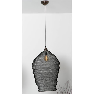 lampara decoracion malla metal