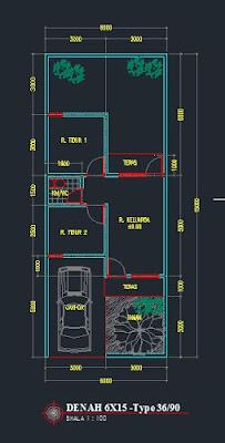 37 Gambar Denah Rumah Type 36 Sederhana Paling Populer Lingkar Png