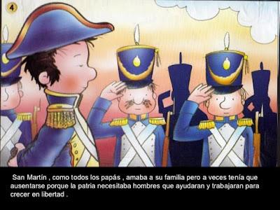 vida del General San Martín color