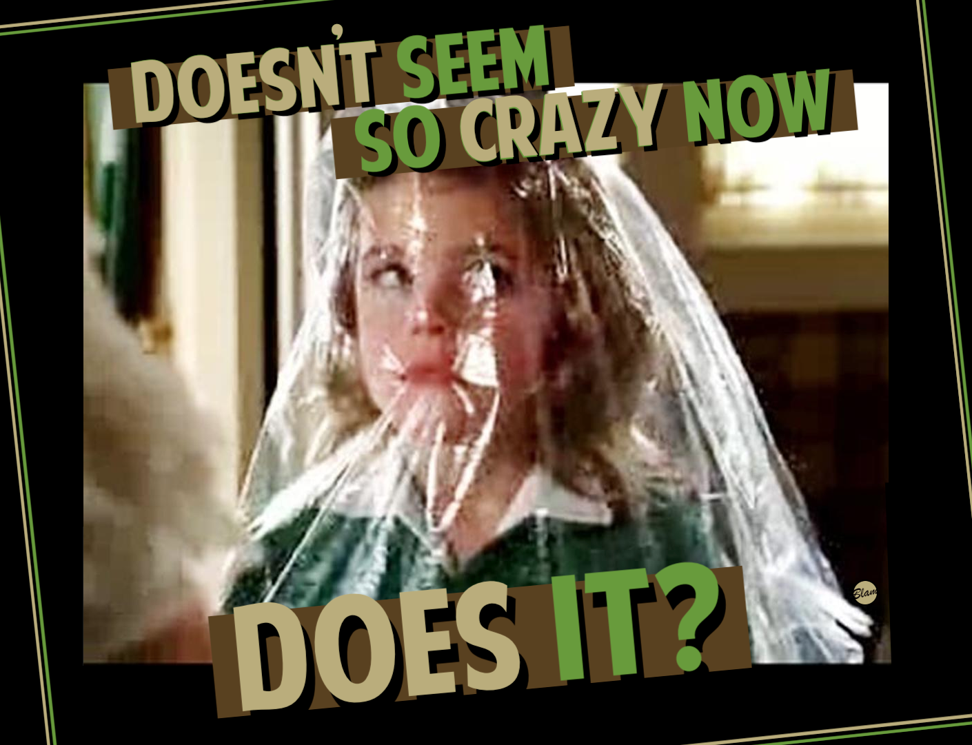 Little Sally Draper inside plastic bag from dry cleaners / 'Doesn't Seem So Crazy Now, Does It?'