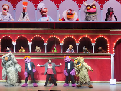 The opening credit sequence of the Muppet show
