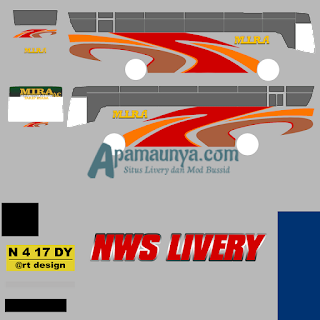 Livery bus titanium trisakti mira