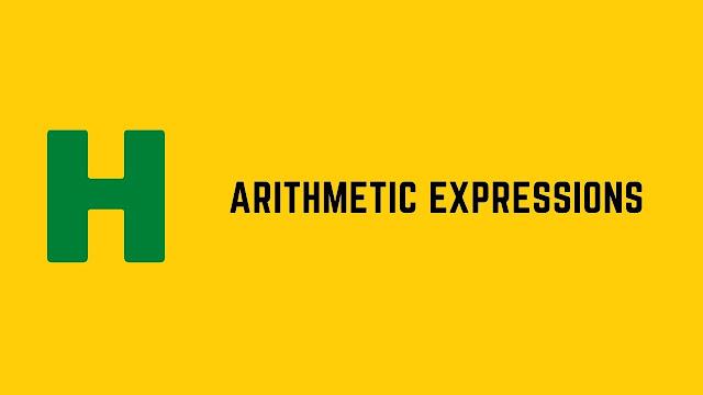 HackerRank Arithmetic Expressions problem solution