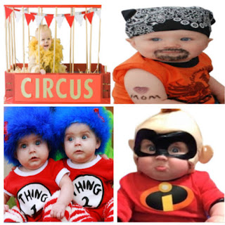 A collection of fun & creative Halloween costume ideas for baby #halloween #halloweencostumes2020 #halloweencostumesforbabies #babycostumes #growingajeweledrose #activitiesforkids