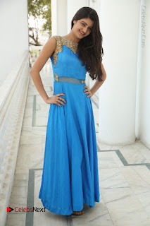 Telugu Actress Akshita (Pallavi Naidu) Latest Stills in Blue Long Dress at Inkenti Nuvve Cheppu Movie Promotions  0087.jpg