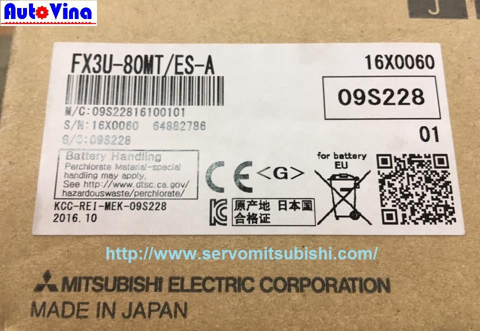 Bán PLC Mitsubishi, sửa chữa thay Pin Battery cho PLC Mitsubishi FX3U-80MT/ES-A