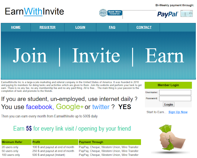 EarnWithInvite Review - EarnWithInvite Scam - EarnWithInvite Payment Proof