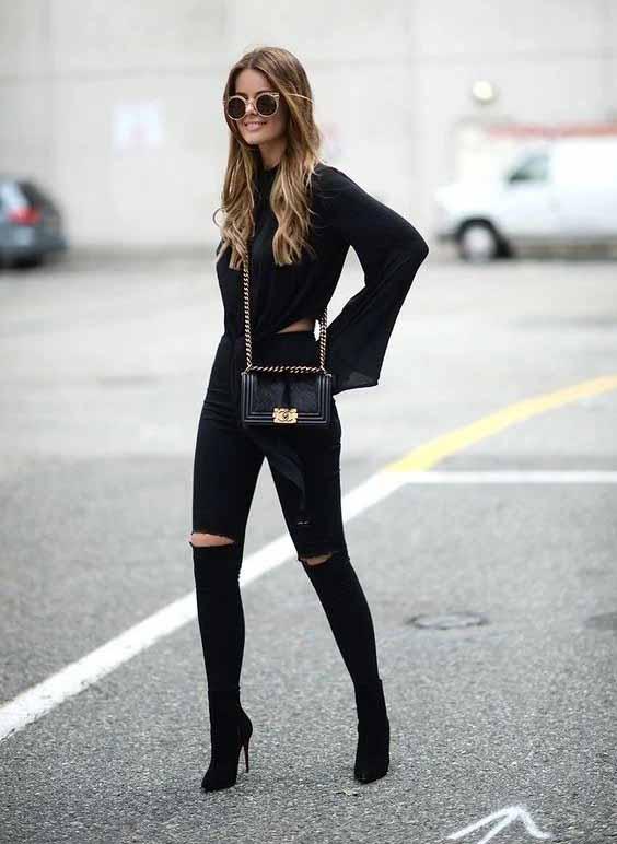 Looks estilosos com calça preta
