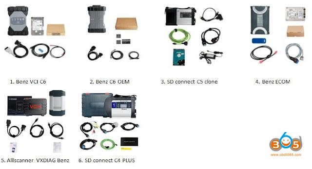 scanners différents benz