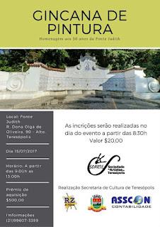 Soarte realiza Gincana de pintura em homenagem aos 50 anos da Fonte Judith em Teresópolis