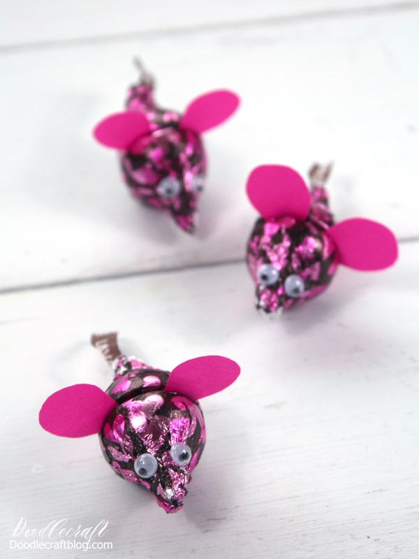 Hershey's Kisses Mice for Chinese New Year Craft: Year of the Rat!