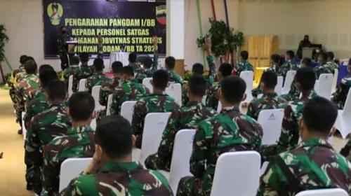 Pangdam I/BB Menerima Vidcon dari Kasad Beri Pembekalan Personel BKO dan Pamobvit