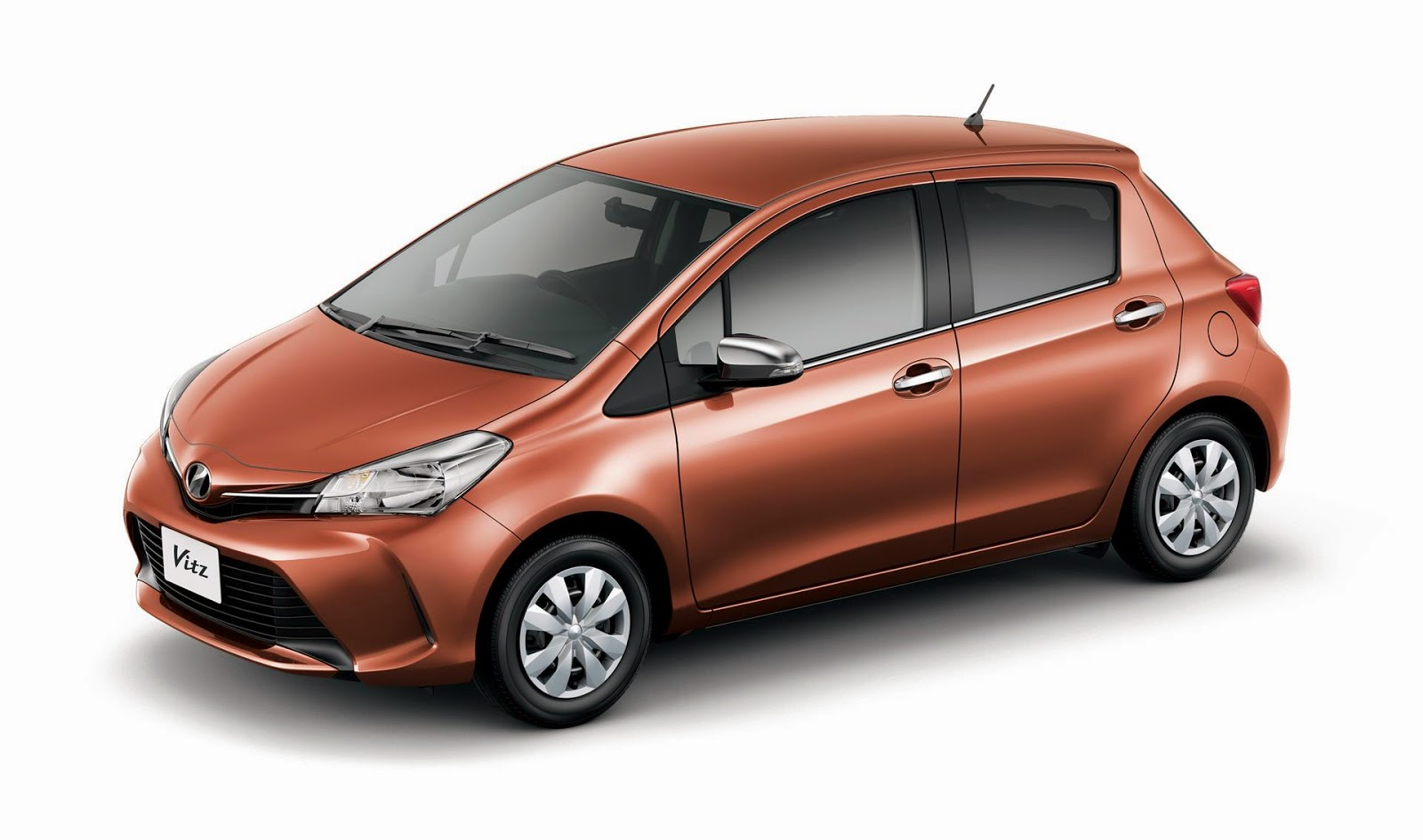 Orange Toyota Vitz