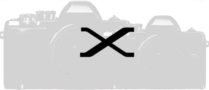 Силуэты двух камер Fujiflm X