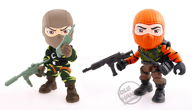 San Diego Comic-Con 2016 Toys R Us Exclusive G.I. JOE TIGER FORCE WRECKAGE AND BEACH HEAD vinyl figure 2-Pack from The Loyal Subjects