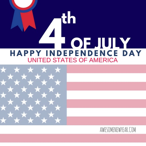 Happy 4th of july United States of America