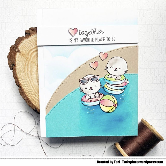 Sunny Studio Stamps: Sealiously Sweet Customer Card by Teri Anderson