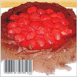 cheesecake de chocolate e morango