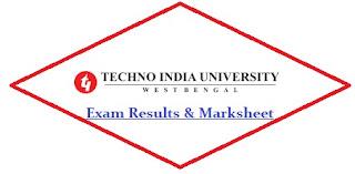 Techno India University Exam Result 2021