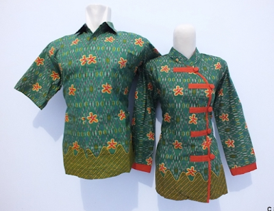 Contoh couple batik model china