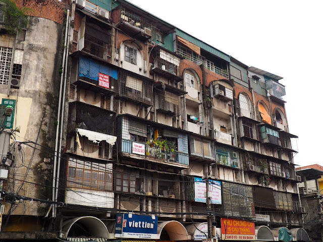 Buildings in the Old Quarter of Hanoi, Vietnam