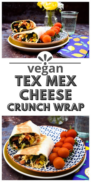Vegan Tex Mex Crunch Lunch Wrap is perfect for lunch boxes and the filling it tasty on sandwiches with salads too.