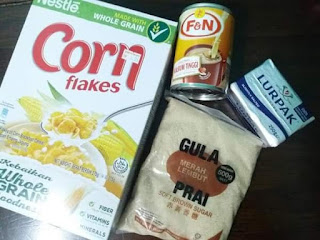 Resepi Cornflakes Creamy dan Milky akuainkausiapa