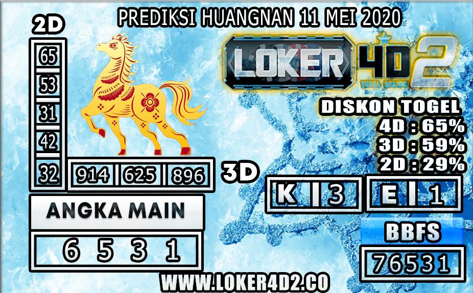 PREDIKSI TOGEL HUANGNAN LOKER4D2 11 MEI 2020