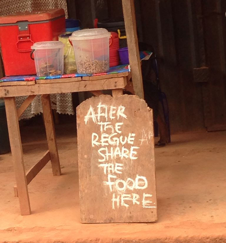 Funny signpost spotted at food joint in Enugu