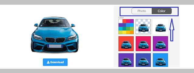 تغيير خلفية الصور الي اللون الابيض والازرق والاحمر واي لون اخر
