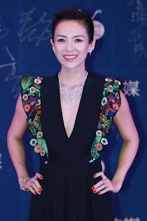 章子怡美鑽閃耀現身 出席華語電影界年度盛典