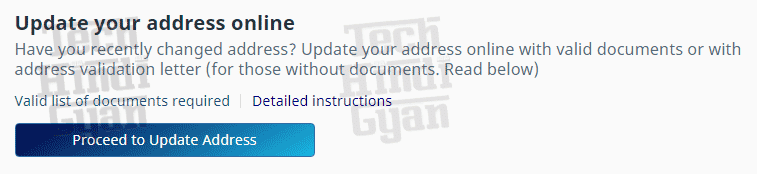 online update aadhar card, online update address on aadhar card