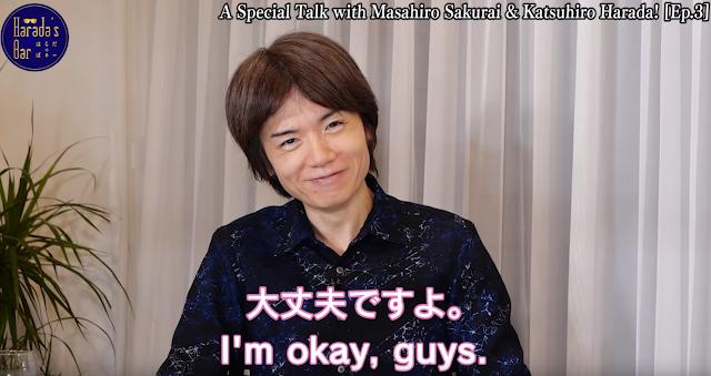 Masahiro Sakurai says he is okay good health