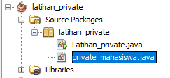 Program sederhana menggunakan method dan fungsi private java